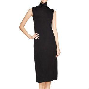 DKNY turtleneck midi dress wool